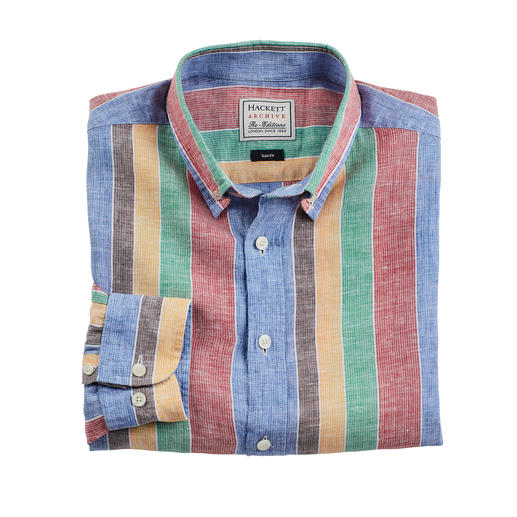 Hackett London Streifenhemd - Designt in den 70ern. Jetzt aktuell wie nie. So gekonnt setzt nur Hackett London Streifen in Szene.