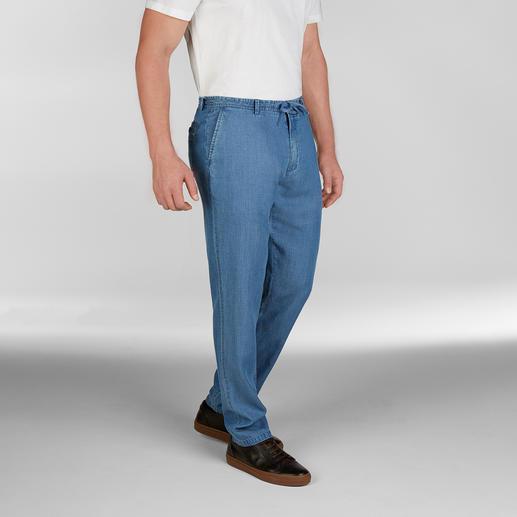 Hackett London Strand-Jeans - Jeans bei 25 °C und mehr? Diese ja! Sommerleichter Tencel®-Denim. Luftige Leinwand-Bindung. Von Hackett London.