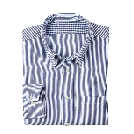 Seersucker: der kühle Krepp-Stoff, der die Luft zirkulieren lässt. Das Seersucker-Hemd von Brooks Brothers – Amerikas berühmtestem Herrenausstatter seit 1818.