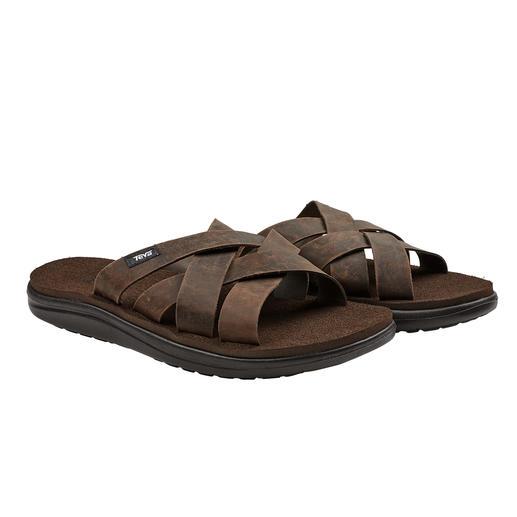 Die wasserabweisende, salzwasserfeste Sandale von Teva®. Edel genug für die Croisette. Robust genug für Strand und Pool.