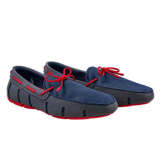 Der Wet-Shoe für den Gentleman. Der Wet-Shoe für den Gentleman. Wasserfest wie ein Badeschuh. Luftig wie eine Sandale. Elegant wie ein Loafer.