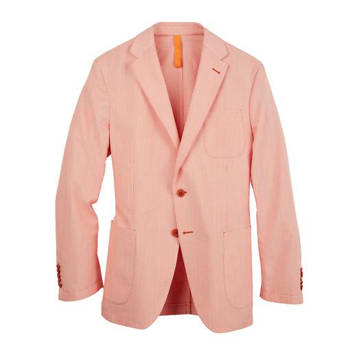 Korrekt wie ein Sakko. Leicht wie ein Hemd. Luftiges Oxford-Gewebe ohne Futter. Leicht wie ein Hemd.