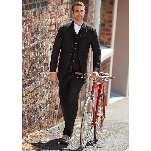 Hollington Black-Denim-Weste, -Jacke oder -Hose Solo Kult-Klassiker. Zusammen Trend-Kombination im aktuellen All-Denim-Look.