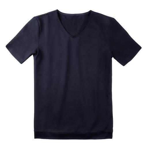 Piqué-Pyjama-Oberteil, -Shorts oder -Hose Luftig wie ein Polo-Shirt. Präsentabel wie ein Homesuit. Aus Schweizer Baumwoll-Piqué.