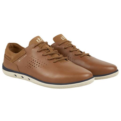 TBS waschbarer Ledersneaker - Schluss mit Schuheputzen. Diesen sommerleichten Ledersneaker waschen Sie einfach in der Maschine.