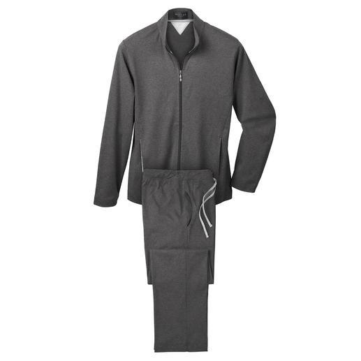 Der Loungewear-Anzug für Training, Sofa und Spontanbesuch. Edel, sportlich und sehr komfortabel.