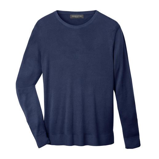 Der sommerleichte Basic-Pullover von Benbarton New York. Weich. Weicher. Viskose aus Bambus/Kaschmir.
