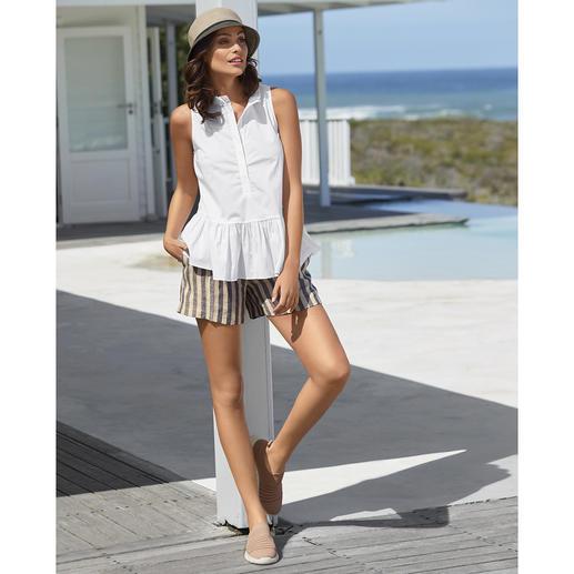 TWINSET Blusen-Tank Top oder Leinen-Shorts Selten ist eine sportive Trend-Kombi so stilvoll, feminin und erwachsen.