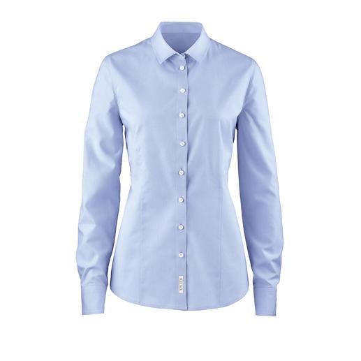 Die unvergängliche Oxford-Bluse. Aus reiner Baumwolle. Hochwertig verarbeitet.