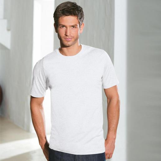 Rundhals-Shirt, Weiß