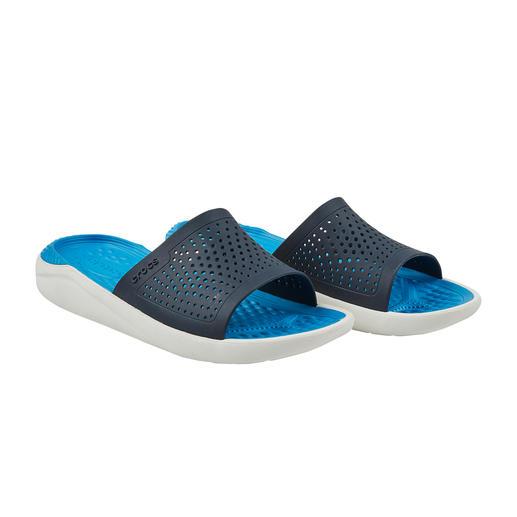 Crocs™ LiteRide™ Herren-Badeschuhe Aus sehr guten Crocs™ wurden noch bessere. Die neue LiteRide™-Kollektion ist 40 % weicher, 25 % leichter, und … und … und.