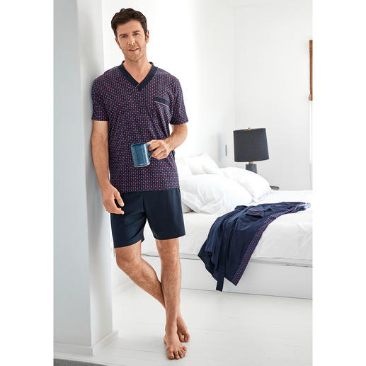 Lieblings-Pyjama No. 28 Reine Baumwolle, sauber verarbeitet, made in Germany.