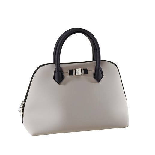 Princess-Bag, Taupe/Schwarz