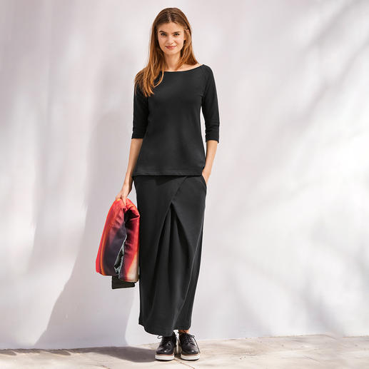 [schi]ess Jersey-Shirt, 3/4-Arm oder -Maxi-Rock Alltagstaugliches Jersey-Ensemble oder edle Loungewear? Beides!  Von[schi]ess.