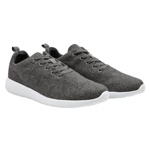 170 g-Woll-Sneaker Federleichte Kombination aus trendigem Wollwalk und EVA-Schaum.