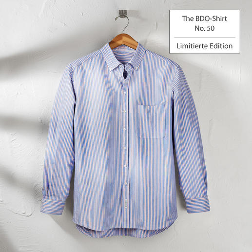 The BDO-Shirt, Limited Edition No.50 - Entdecken Sie einen guten alten Freund. Und vergessen Sie, dass ein Hemd gebügelt werden muss.