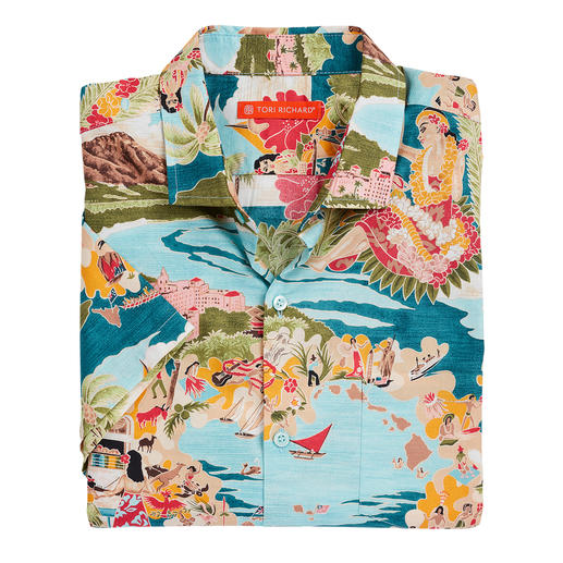 Ihr Hawaii-Hemd sollten Sie auf Hawaii kaufen. Oder ... Das Aloha-Shirt von Tori Richard. Hergestellt auf Hawaii.