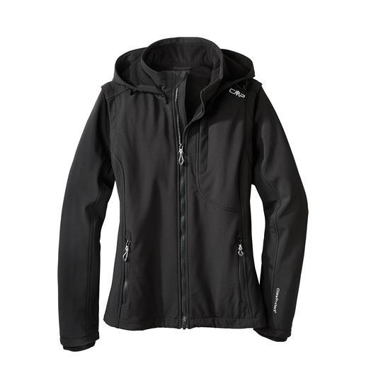 Soft Shell-Damenjacke Jacke aus Soft Shell, mit WindProtect® von CMP. Schlank, leicht und trotzdem warm.