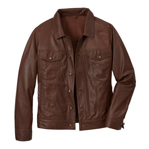 Die Jacke aus dem weltweit dünnsten Rentier-Nappaleder. Aus dem weltweit dünnsten Rentier-Nappaleder.