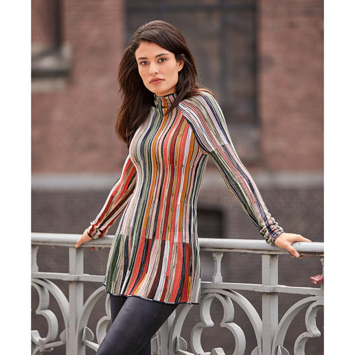 M Missoni Turtleneck-Pullover Extravagante Form. Vielfarbiger Strick. Aktuelle Modefarben. Vom italienischen Meister der Maschen: M Missoni.
