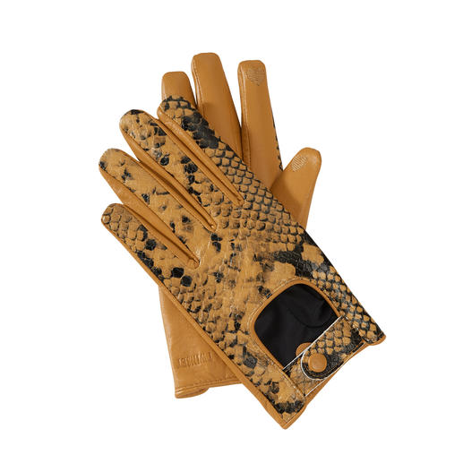 TWINSET Python Handschuhe Die 2-fach trendgerechten Handschuhe von TWINSET mit praktischer Touchscreen-Funktion.