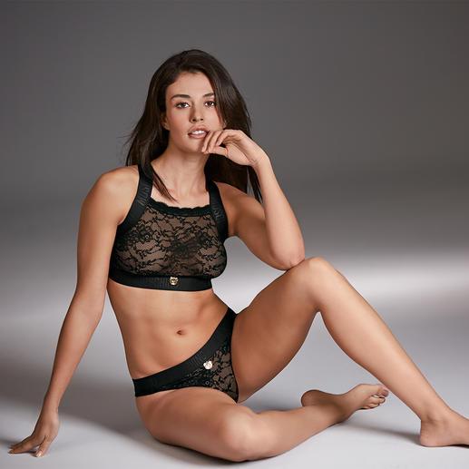 Moschino Underwear Spitzen-Bustier und Spitzen-Slip Die Sports-Couture der Lingerie: Spitzen-Wäsche vom italienischen Trend-Label Moschino.