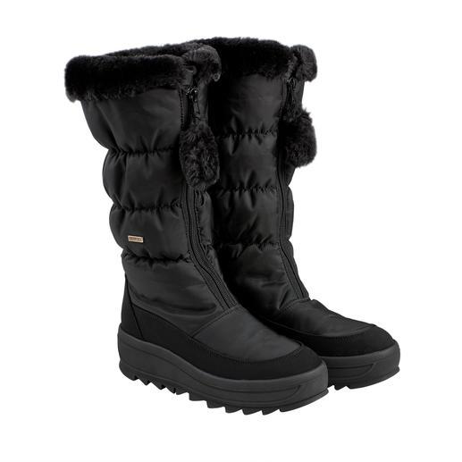 Heute Après-Ski, morgen Stadtbummel: der schlanke Snow-Boot mit High-Fashion-Potenzial. Heute Après-Ski, morgen Stadtbummel: der schlanke Snow-Boot mit High-Fashion-Potenzial.