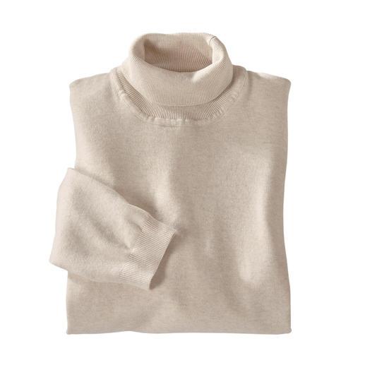 So leicht und so edel zugleich sind die wenigsten Rollkragenpullover. Der leichte, edle Rollkragenpullover - aus langstapeliger Baumwolle fein gestrickt.