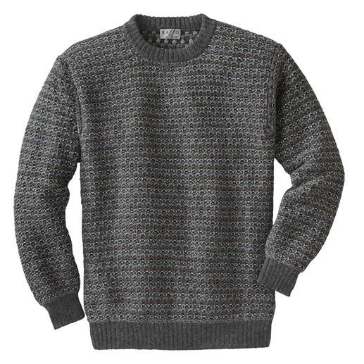 7-Farben Alpaka-Pullover - Rare Strickkunst aus den Anden. Statt Massenfertigung aus Fernost.