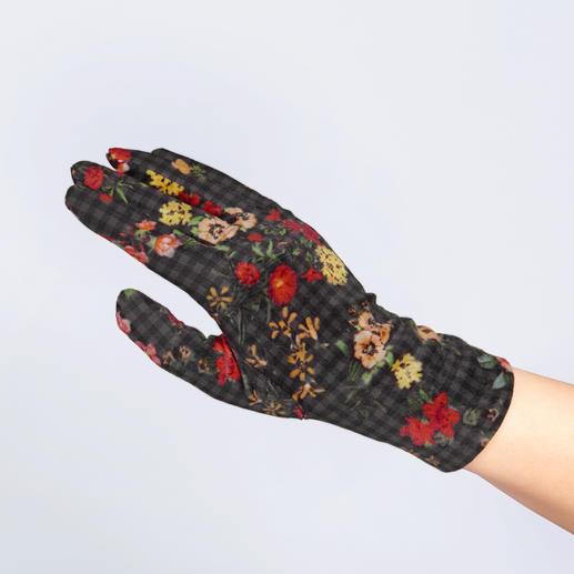 Die Fleece- und Samt-Handschuhe von Ixli, Frankreich. Fröhlich bunt statt langweilig uni.
