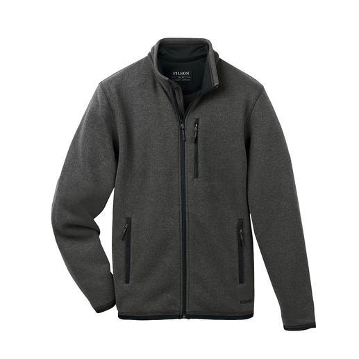 Der vielseitige Lumber von Outerwear- und Workwear-Spezialist Filson/USA. Außen klassisch-elegante Strick-Optik. Innen leichter, sanft wärmender Polartec®-Fleece.