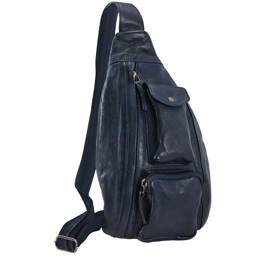 Mal Umhängetasche. Mal Bauchtasche. Und modisch genau richtig. Die Crossbody Bag vom Münchner Trendlabel Anokhi ist ein echtes Organisationstalent.