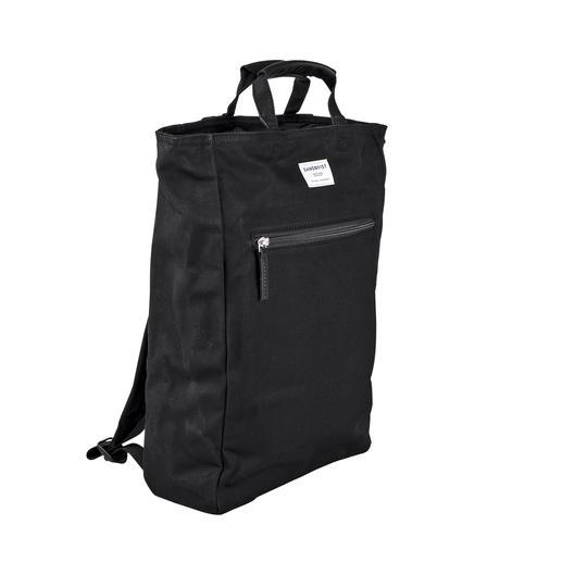 Sandqvist 2-in-1-Rucksack-Bag Skandinavisch puristisches Design. Ökologisch nachhaltiges Material. Und ein guter Preis.