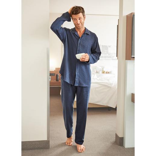 NOVILA Flanell-Pyjama, Herren Der Pyjama für den ersten guten Eindruck am Morgen.