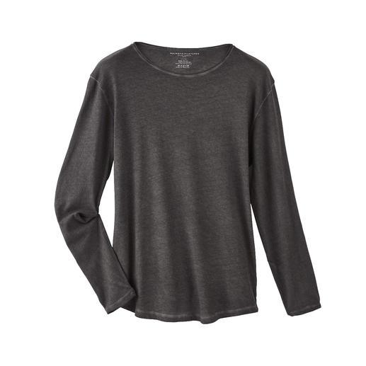 Weicher und wärmer als einfache Baumwoll-Shirts: das Edel-Longsleeve mit Kaschmir. Weicher und wärmer als einfache Baumwoll-Shirts: das Edel-Longsleeve mit Kaschmir.