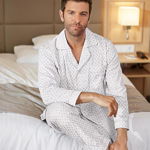 Ambassador Gentleman-Pyjama Selten geworden: der elegante, helle Gentleman-Pyjama.