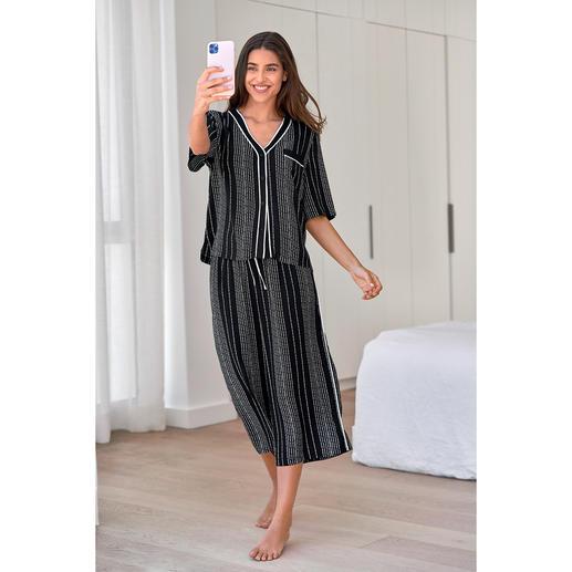 DKNY Logostreifen-Pyjama Trendgerecht wie ein High-Fashion-Piece.