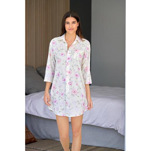 Ralph Lauren Flowers-Nightshirt So stilvoll sind die wenigsten Nightshirts. Luftiger Batist aus Baumwolle und Viskose.