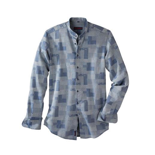 Patchwork-Denim-Hemd - Ist das noch ein Jeanshemd? Oder schon ein kleines Kunstwerk?