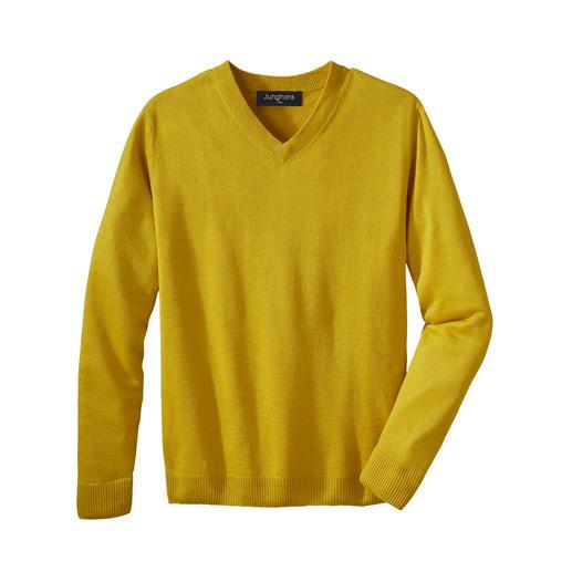 Junghans 1954 Leinen-Basic-Pullover Ihr sommerleichter Basic-Pullover – eine Rarität aus reinem Leinen.