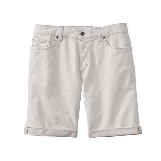 Alberto Leinen-Denim-Shorts - Luftiger als andere: Die weiße Jeans-Shorts. Aus Leinen-Denim.