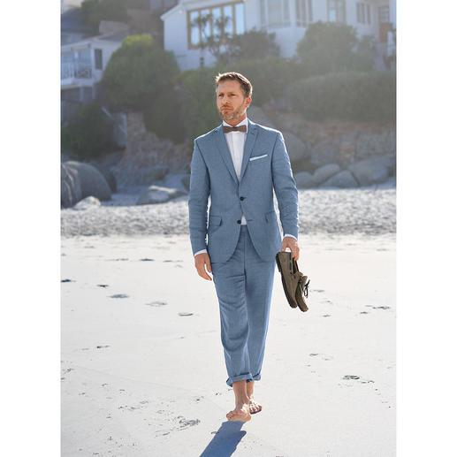 Carl Gross Leinen-Anzug-Sakko oder -Hose Ihr wohl nobelster Business-Anzug im Sommer – dank edlem Leinen-Tuch von Loro Piana.