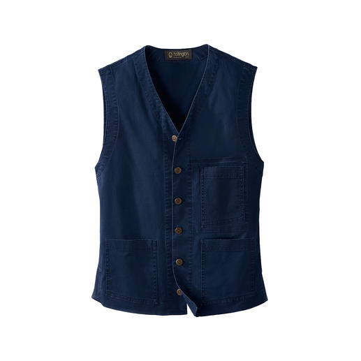 Hollington Lightweight-Denim-Weste Die echte Patric Hollington-Weste. Unzerstör­bares Design.