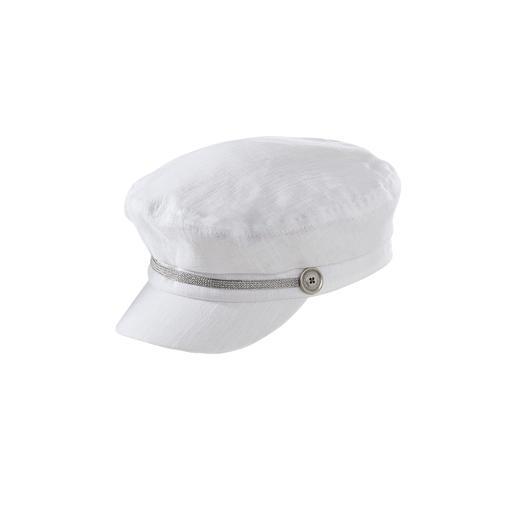 Leinen-Elbsegler-Mütze Der berühmte Elbsegler ist zurück – als herrlich leichte Damen-Mütze.