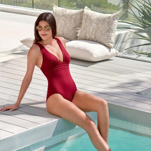 Iodus Badeanzug Marilyn Schlicht unifarben, aber alles andere als langweilig: Raffiniert elegante Bademode von Iodus, Paris.