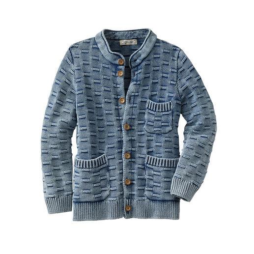 Indigo-Strickjacke Schwer zu finden: die Strickjacke, die wirklich perfekt zu Ihrer Lieblings-Jeans passt.