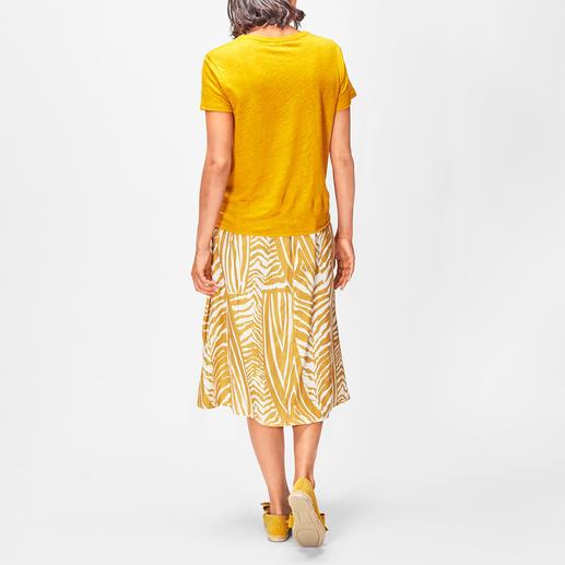 La Fée Maraboutée Leinenstrick-Shirt oder Leinenrock