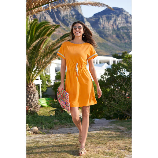 Das elegante Feinfrottier-Kleid für Strand, Spa, Sofa, ... Unglaublich vielseitig und herrlich bequem. Von Pluto.