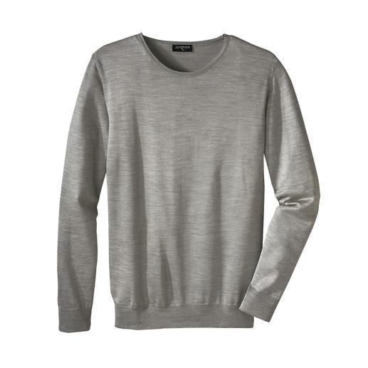 Der edle Feinstrick-Pullover für die warme Jahreszeit. Von Junghans 1954. Aus reiner Seide. Made in Italy. Erfreulich erschwinglich.