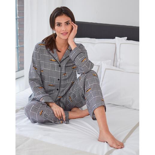 DKNY Hahnentritt-Pyjama Der Pyjama von Donna Karan New York. Trendgerecht wie ein High-Fashion-Piece.
